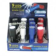 פנס יד 9 לדים + סוללות HY-9118A