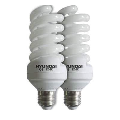 זוג נורות 28W אור לבן  E27 ECO