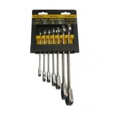 סט 7 מפתחות רינג פתוח ראצ'ט ProFxene