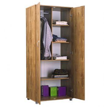 ארון 2 דלתות דגם 702 רהיטי יראון - צבע שיטה