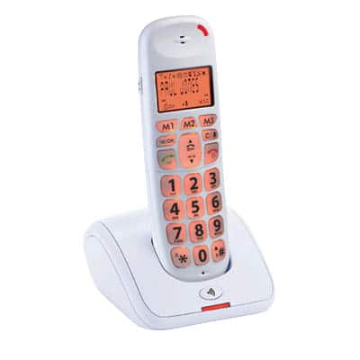 טלפון לכבדי שמיעה HYUNDAI HDT-L100 לבן