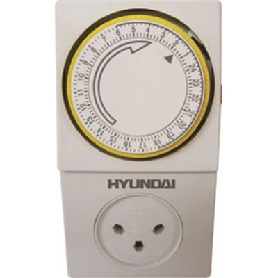 שעון שבת מכני לבן HYUNDAI דגם HY-2ILD/3A
