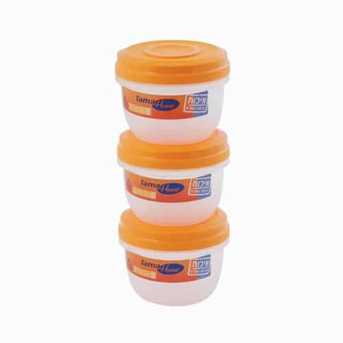 סט 3 צנצנות פלסטיק 0.5 ליטר