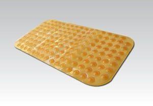 שטיח אמבטיה ספאדיני עם כריות ואקום כתום