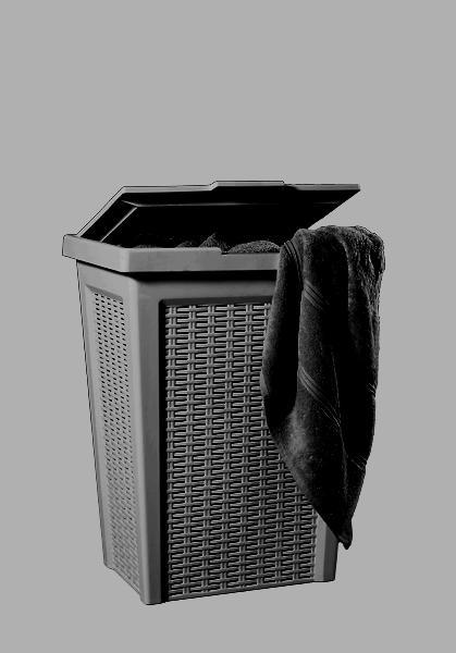 סל כביסה 50 ליטר ראטן חום