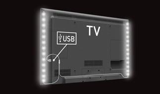 תאורת לד לאווירה+USB ד L-10