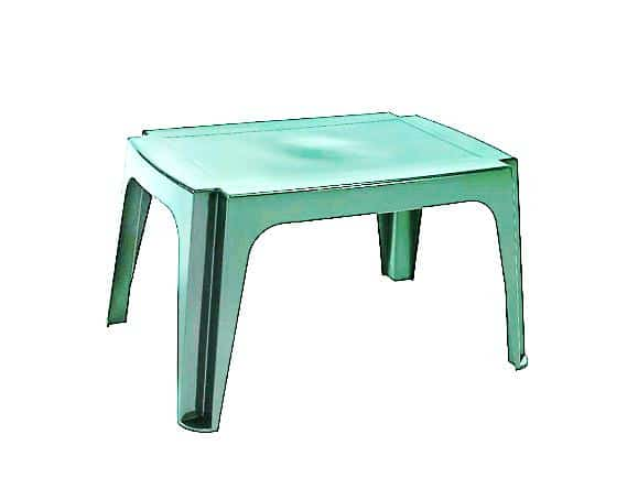 שולחן צד מלבן לבן