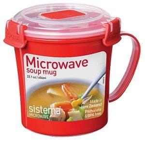ספל מרק למיקרו