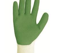 כפפות בד/גומי ירוק לגננים  TRUPER