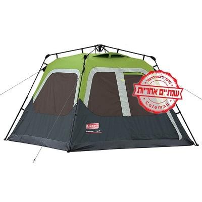 אוהל ל-4 אנשים נפתח בין רגע COLEMAN