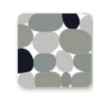 """וילון אמבטיה 1.8X2.4 """"חלוקי נחל"""" SPLASH"""