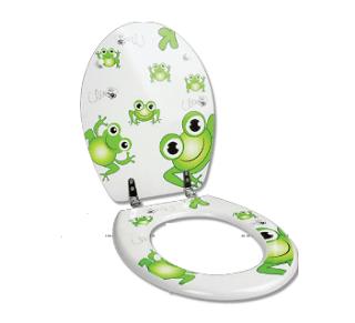 מושב אסלה דגם צפרדעים SPLASH