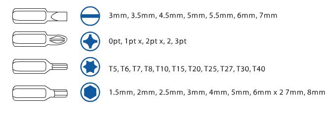 מברגון מולטי ביט (35 יח') STANLEY