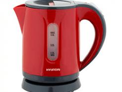 קומקום חשמלי Hyundai HYK8160 0.8 ליטר אדום