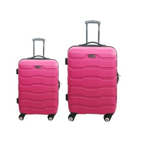 מזוודות ABS 24+28  ורוד רוכסן