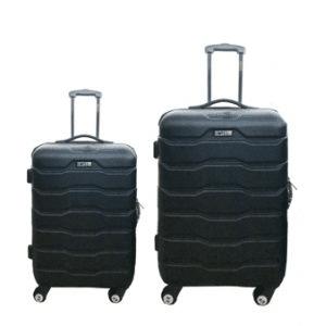 מזוודות ABS 24+28 שחור רוכסן