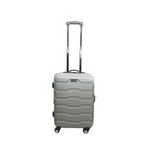 מזוודה 20 ABS כסוף רוכסן 10 + גלגלים
