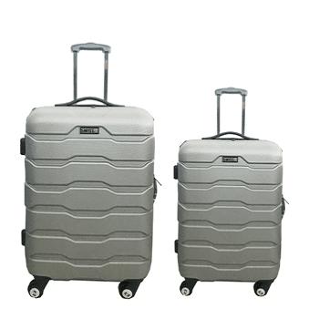 מזוודות ABS 24+28  כסוף רוכסן