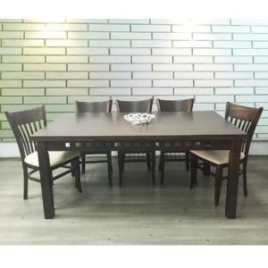 פינת אוכל דגם שון שולחן + 6 כסאות