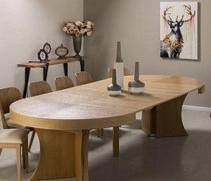 סט שולחן עגול נפתח לאובלי