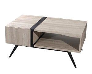 שולחן סלון פס שחור