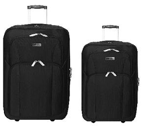 """סט 2 מזוודות מבד 24""""+28"""" שחור"""