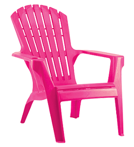 כסא בריזה מהאיים הקריביים ורוד פוקסיה