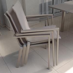 """סט ריהוט גינה דגם """"אמרלד"""" שולחן+4 כסאות קפוצ'ינו"""