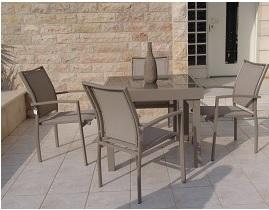 סט גינה דגם בונדי שולחן נפתח עד 144+ 4 כסאות קפוצי'נו