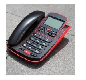 טלפון שולחני דגם AG550 AEG שחור