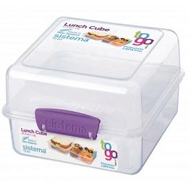 קופסאת אוכל לאנצ' מחולקת 1.4 ליטר SISTEMA