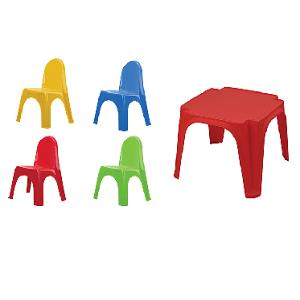 שולחן + 4 כיסאות לילדיםstarplast