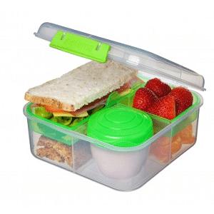 קופסת אוכל כולל מיכל לתוספות 1.25 ליטר מבית SISTEMA