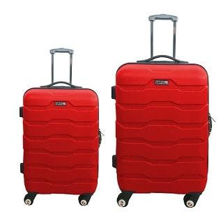 סט 2 מזוודות ABS דגם 1385 SWISS אדום