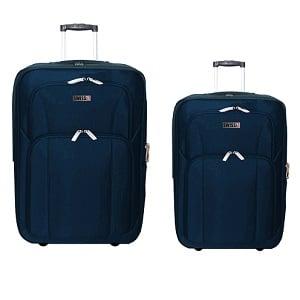"""סט 2 מזוודות מבד 24""""+28"""" נייבי"""