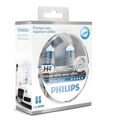 זוג נורות PHILIPS H4 WHITEVISION
