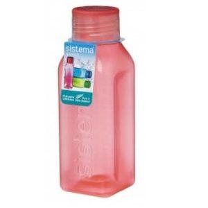 """בקבוק שתייה מרובע 475 מ""""ל SISTEMA"""