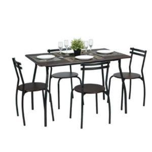 פינת אוכל מרים- שולחן + 4 כסאות 80*120