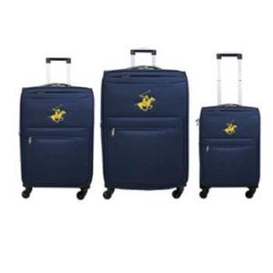 שלישיית מזוודות Beverly hills polo - נייבי/צהוב