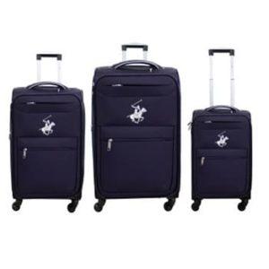 שלישיית מזוודות Beverly hills polo - סגול/כסף