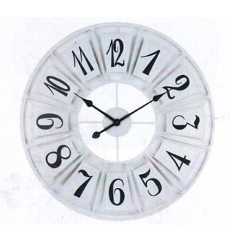 שעון קונטור שחור / לבן