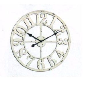 שעון קיר קונטור לבן