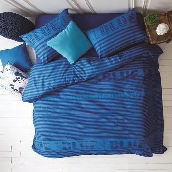 סט מצעים זוגי דגם ריינבו HOMESTYLE כחול