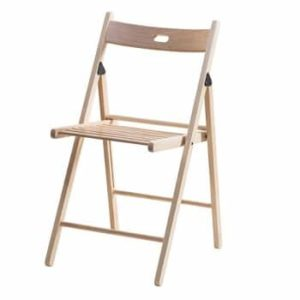 כסא עץ מתקפל רהיטי יראון - טבעי