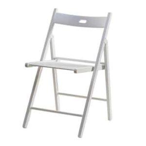 כסא עץ מתקפל רהיטי יראון - לבן