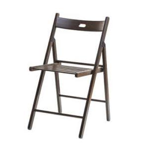 כסא עץ מתקפל רהיטי יראון - חום