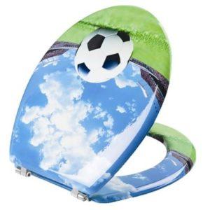 מושב אסלה MDF כדורגל SPLASH