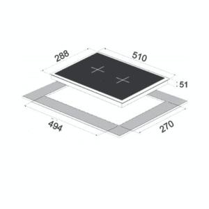 כיריים חשמל Sol FS3V083