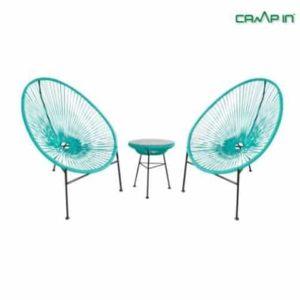 סט שולחן + 2 כסאות חוטים