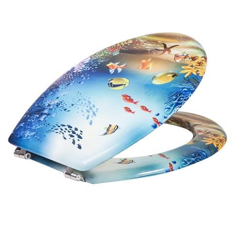 מושב אסלה MDF דגים